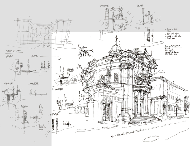 Baroque Architecture Drawings of Baroque Architecture