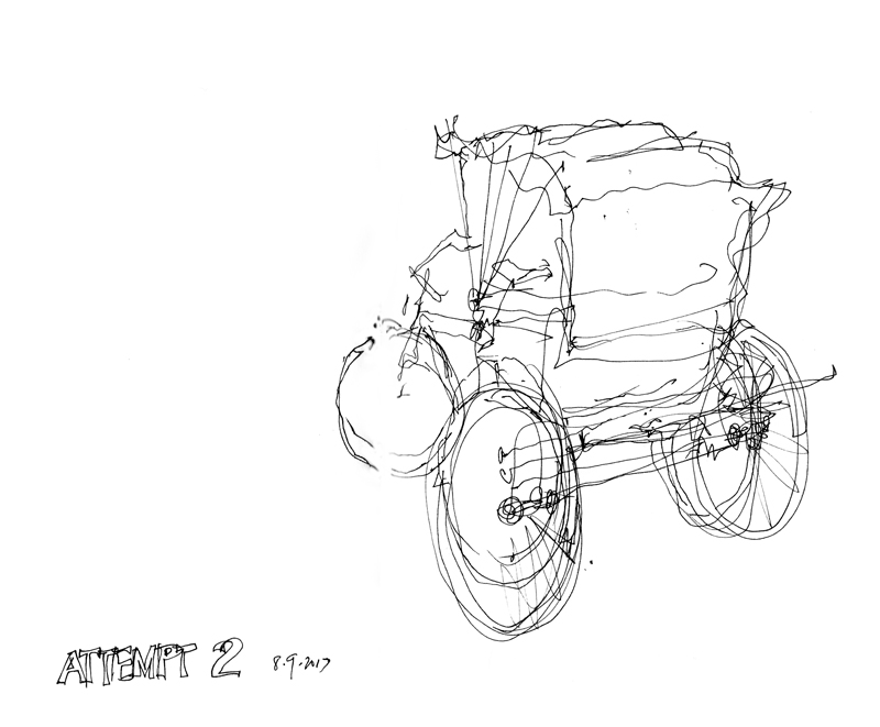 Wright Brothers Cycle Works Seeing Thinking Drawing